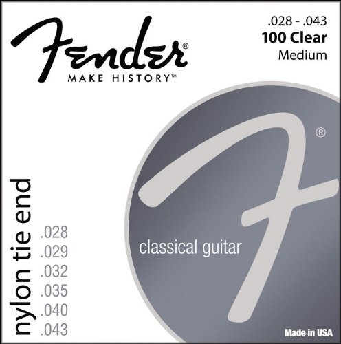 FENDER 100 Clear - 28-43 NYLON TIE END ON MEDIUM