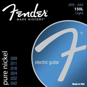 Fender 150L Pure Nickel Electric Guitar Strings 9-42