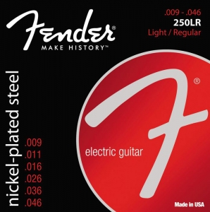 Fender 250LR Pure Nickel Electric Guitar Strings 9-46