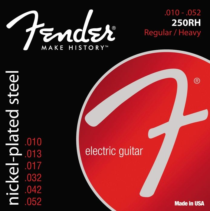 FENDER 250RH Nickel-plated steel electric guitar string 10-52