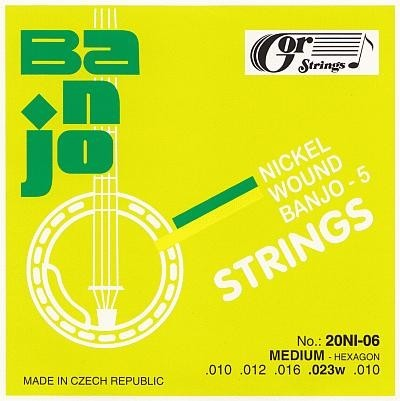 Gorstrings Banjo 20BNI-06 Medium-Hexagon (.010 - .023w)