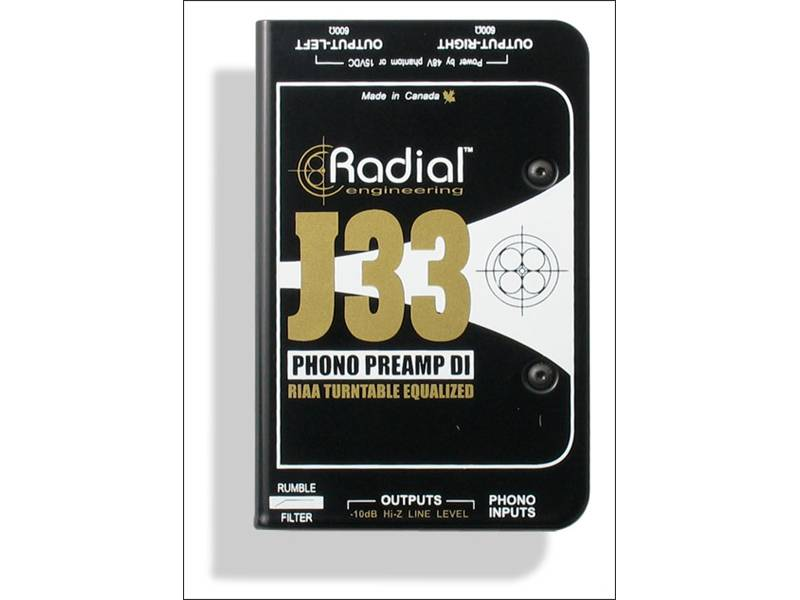Radial J33, Phono Preamp Turntable Active DI Box