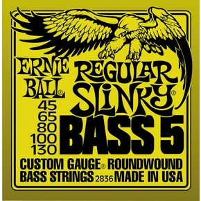 ERNIE BALL 2836 Regular Slinky 5-string Bass Nickel Wound .045 - .130