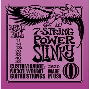 ERNIE BALL 2620 7-string Power Slinky Nickel Wound .011 - .058 Purple pack