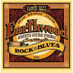 ERNIE BALL 2008 Earthwood Rock & Blues .010 - .052 80/20 Bronze w/ plain G