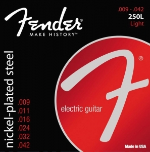 Fender 250L Pure Nickel Electric Guitar Strings 9-42