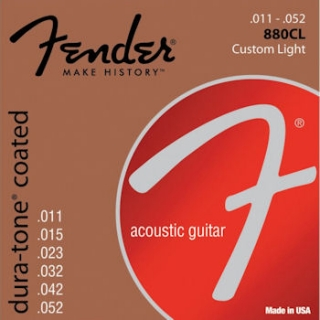 Fender 880CL 80/20 Dura-Tone Coated Acoustic Strings, 11-52