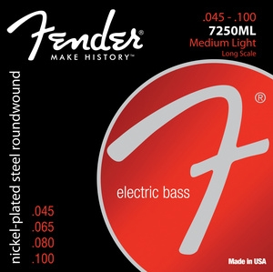 Fender Super 7250ML Bass Strings, 45-100
