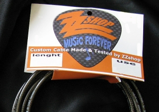 ZZshop Custom Cable-Guitar and Bass 3m