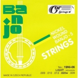 Gorstrings Banjo 19BNI-06 Light (.009 - .020w)