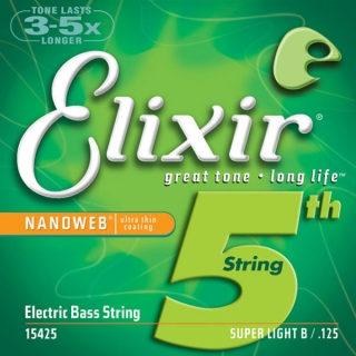 "Elixir 15425 Bass  .125"" Super Light Long Scale"