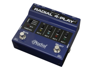 Radial 4-Play Multi-Output Active DI Box