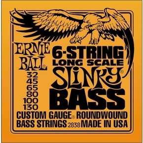 ERNIE BALL 2838 6-string Slinky Bass Long Scale Nickel Wound .032 - .130