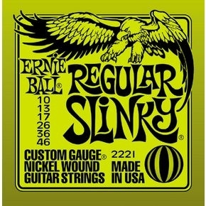 ERNIE BALL 2221 Regular Slinky Nickel Wound .010 - .046 Lime Pack