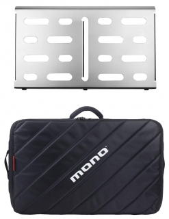 MONO Pedalboard Medium Silver + Tour Accessory Case 2.0