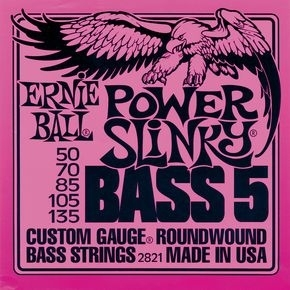 ERNIE BALL 2821 Power Slinky 5-string Bass Nickel Wound .050 - .135