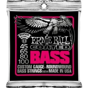 ERNIE BALL 3834 Coated Bass Strings - Super Slinky .045 - .100