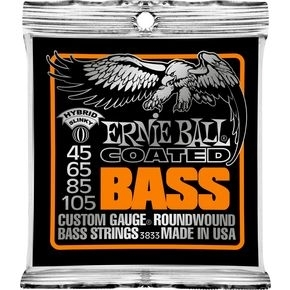 ERNIE BALL 3833 Coated Bass Strings - Hybrid Slinky .045 -.105