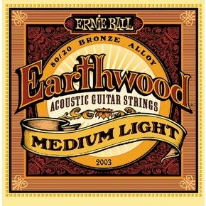 ERNIE BALL 2003 Earthwood Medium Light .012 - .054 Acoustic 80/20 Bronze