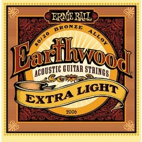 ERNIE BALL 2006 Earthwood Extra Light .010 - .050 Acoustic 80/20 Bronze