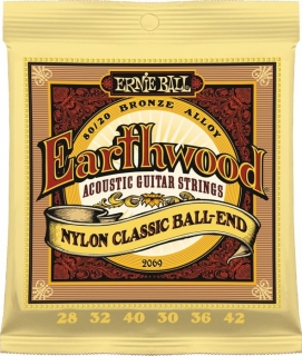 ERNIE BALL 2069 Earthwood Nylon Classic Ball-End