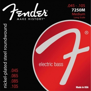 Fender Super 7250-5M Bass Strings, 45-125
